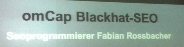 omCap Blackhat SEO - Überschrift