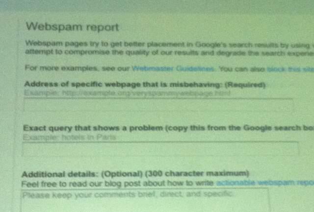 Webspam Report
