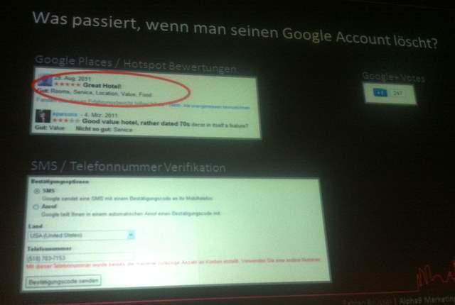 Gelöschte Google Accounts