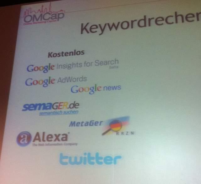 Keywordrecherche Tools