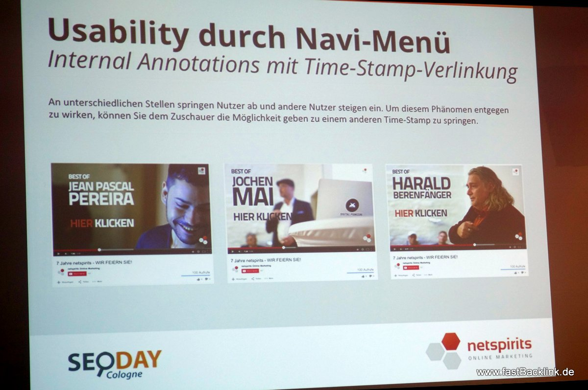 Usability durch Video Navi