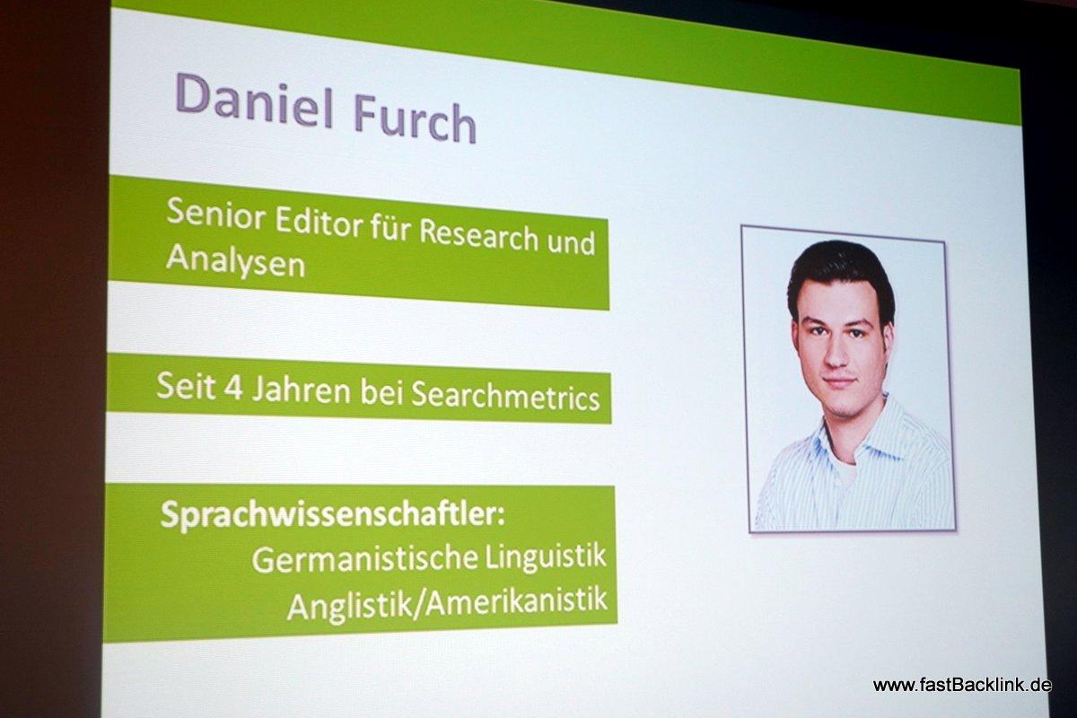 Daniel bei Searchmetrics