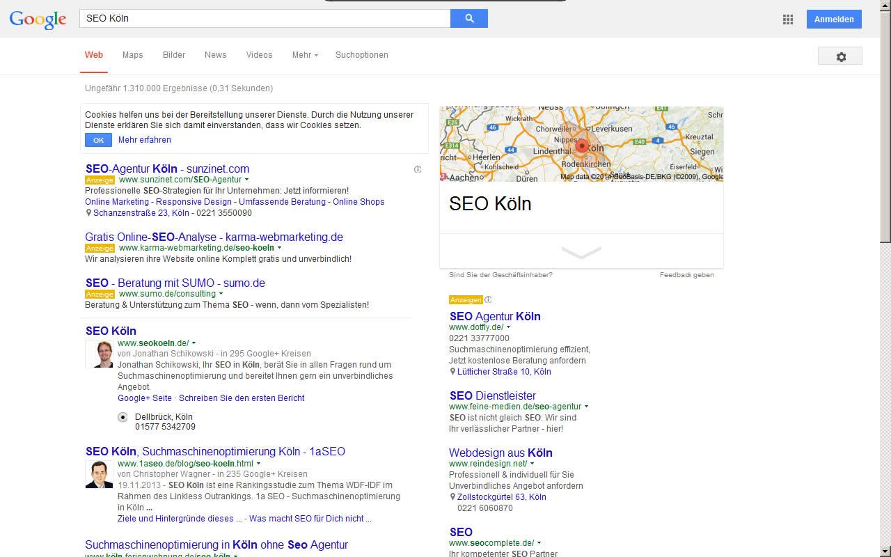 SEO und Suchmaschinenoptimierung Köln